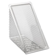 Pactiv Hinged Lid Sandwich Wedges, Plastic, Clear, 6 1/2 X 3 X 3 1/4, 85/Pk, 3 Pk/Ct by Pactiv