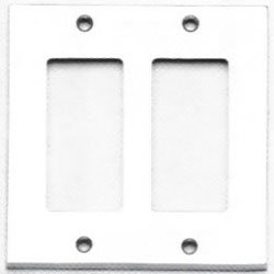 Omnia 8023/D Double Rocker Switch Plate from the Classics Collection, Satin Chrome