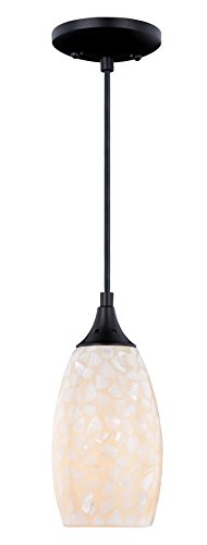 Vhomes Light Milano Mini Pendant Oil Rubbed Bronze with Natural ()