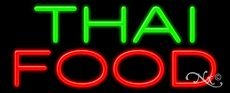 Thai Food Business Neon Sign - 13 x 32 x 3 inches - Made in USA