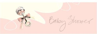Lil Angel Baby Shower Giant Party Banner - Each