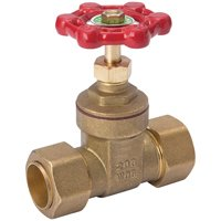 """Mueller Gate Valve Lead Free 3/4 """" Compression X 3/4 """" Compression Copper from Mueller Industries"""