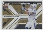 2009 Donruss Elite Chain - Anthony Gonzalez #227/899 (Football Card) 2009 Donruss Elite - Chain Reaction - Gold #10