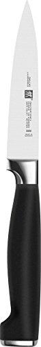 Zwilling Twin Four Star II Spick- und Garniermesser, 100 mm (Rostfreier Spezialstahl, Zwilling Sonderschmelze, Kunststoff, Edelstahlapplikation) schwarz