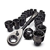Craftsman 19 Piece Universal Max Axess 3/8'' Drive Socket and Ratchet Set, 9-31088