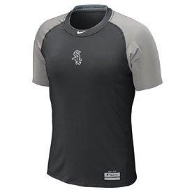 Nike Chicago White Sox MLB Pro Combat Core 1.2 Performance Dri-FIT Fitted T-Shirt - Black (XXL)