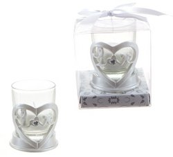 DDI - Heart ''Love'' Poly Resin Candle Set - White (1 pack of 48 items)