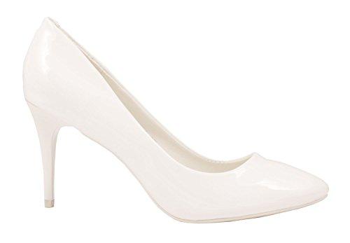 Elara - Pantuflas de caña alta Mujer Weiß