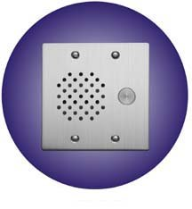 Aiphone Door Station, Stainless Steel, Flush Mount