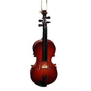 Steel String Miniature Violin Hanging Holiday Tree Ornament