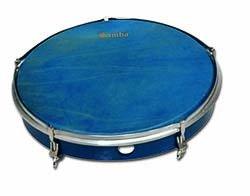 Pandero Ø50.8 cm/20'' de piel Color Azul by 1Samba (Image #1)