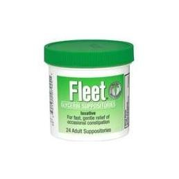 Fleet Suppos Adult Size 24s Fleet Adult Glycerin Suppository Laxatives