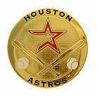 Houston Astros Round Metal Magnet