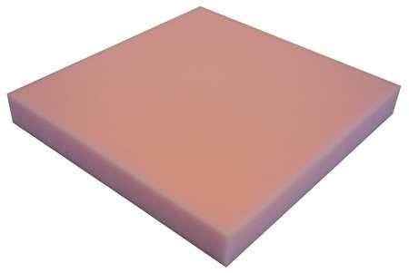 Foam Sheet, 1/4 in, 82 in,Open Cell, Anti-Static Polyurethane, 54 in, Pink,2040999477