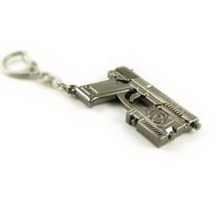 Super18 game® CrossFire Metal Model Strange gun Fashion charm Keychain ring MK23 Christmas Toy