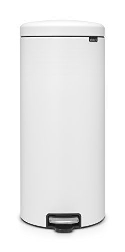 Brabantia Mineral Finish newIcon Step Trash can, 8 Gal, White ()