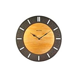 Bulova Fired Glass 12 in. Wall Clock