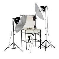 - Smith Victor TST-P2, 3 Light 1250-Watt Photoflood Shooting Table Kit