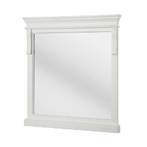 Foremost Naples 30 in. x 32 in. Framed Wall Mirror in -