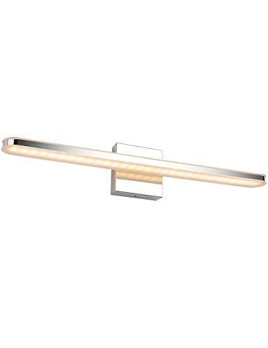 LED Bathroom Vanity Lighting Fixtures Long Shade Stainless Steel Bath Mirror Lamps -
