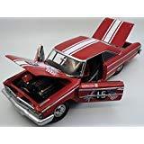 (1963 Ford Galaxie 500 XL #15 B. WIilliams/M. Steele Goodwood Revival 2011 St. Mary's Trophy Race 1/18 Diecast Model Car by Sunstar 1472)