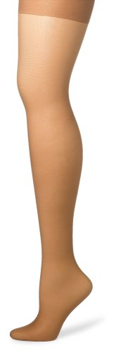 (Hanes Silk Reflections Women's Silky Sheer Control Top Sandalfoot Hosiery, Barely There, CD (Pack of 3))