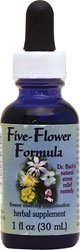 Five-Flower Formula Dropper Flower Essence Services 1 oz Liquid