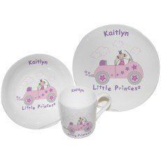 Little Princess in Car Breakfast Set by Pmc - Personalised Breakfast sets