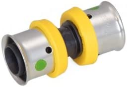 """Poly Alloy Lead-Free Crimp Fittings 1/"""" PEX Couplings 40"""