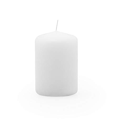 Royal Imports Pillar Candle for Wedding, Birthday, Holiday & Home Decoration, 2x3, White Wax, Set of 12