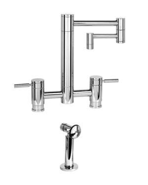 1ap Antique - Waterstone 7600-12-1-AP Hunley Bridge Faucet - 12