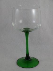 Emerald Green Stem Crystal Hock Wine Glass