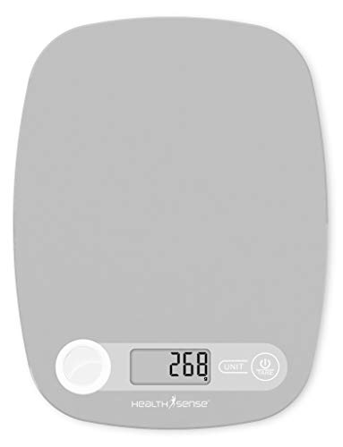 HealthSense Chef-Mate KS 40 Digital Kitchen Weighing Scale & Food Weight Machine for Health, Fitness, Home Baking…