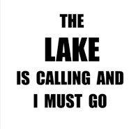 国内発送 湖はCalling 湖はCalling I Must Goビニールキャンプ釣りデカールsticker black carsトラックVans Must SUVノートパソコン壁ガラスメタル 5.25