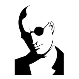 For Rent National Costumes (Natural Born Killers Mickey Knox Vinyl Decal Sticker | Cars Trucks Vans Walls Laptops Cups | Black | 5.5 inches | KCD1305)