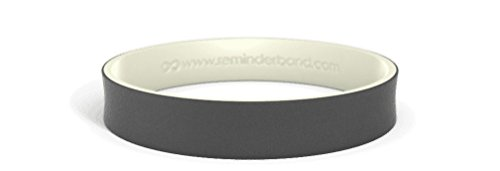 - Reminderband - Custom Dual Layer 100% Silicone Wristband - Personalized Silicone Rubber Bracelet - Customized, Events, Gifts, Support, Causes, Fundraisers, Awareness - Men, Women, Kids