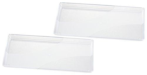 Haushaltsdose Tabletts Servierplatte in Glasoptik 2er Set 33x27 cm