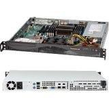 Supermicro SuperChassis 440W/480W Mini 1U Rackmount Server Chassis CSE-512F-441B Black