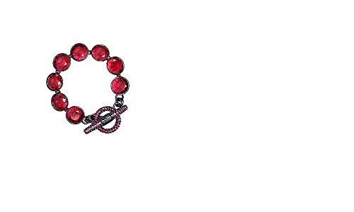 Juicy Couture Multi Gemstone Pave Toggle Bracelet YJRU6270 - Bracelets Fashion Jewelry Couture Juicy