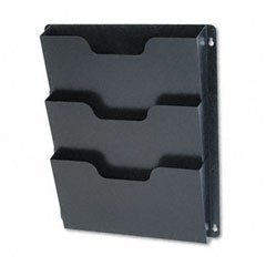 Buddy Products Triple Wall Pocket, Steel, 2.5 x 17.5 x 14.5 Inches, Black (5210-4) from Buddy Products