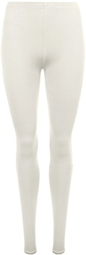 WearAll Women's Plus Size Plain Leggings - Cream - US 16-18 (UK 20-22)