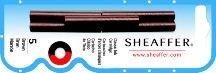 (Sheaffer Skrip Fountain Pen Ink Cartridges Brown - Pack of Five)