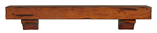 Pearl Mantels 412-72-50 Shenandoah Pine 72-Inch Fireplace Mantel Shelf, Rustic Medium