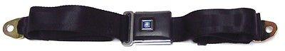 The Parts Place GM Lap Seat Belt - Black Textured Buckle - Blue GM Emblem - 101Lblu - Seat Belt Buckle Emblem