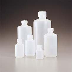 Nalgene 312087-0004 Polypropylene Narrow Mouth Packaging Bottle with Closure, 24mm Closure Size, 125ml Capacity (Case of 500)