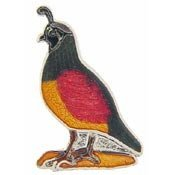 Metal Lapel Pins - Animal - Bird Pins - Pharoah Quail (Pharoah Hat)
