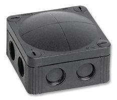 JUNCTION BOX, PP, BLACK, 85X85X51MMIP66 COMBI 308/5/S By WISKA COMBI 308/5/S-WISKA