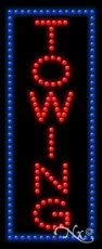 Made in USA 27 x 11 x 1 inches Towing LED Sign