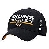 Boston Bruins Locker Room - Reebok Boston Bruins Locker Room Structured Flex Hat (Black) S/M