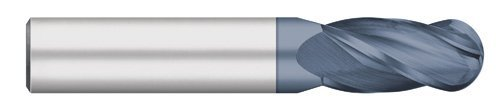 Kodiak Cutting Tools O8-G61J-HPXK USA Made Ball Nose Premium Carbide End Mill, AlTiN Coated, 4 Flute, 3/8'' Diameter, 3/8'' Shank, 1'' Length of Cut, 2-1/2'' Overall Length by Kodiak Cutting Tools
